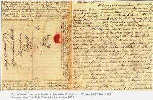 Lettera scritta da Jane Austen alla sorella Cassandra, 24-26 dic. 1798