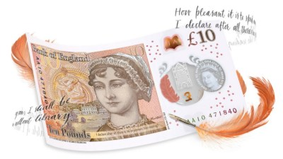 Jane Austen Ten Pound note