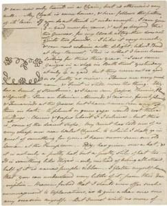 Austen, letter 20, Morgan Library