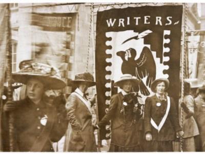Women Writers' Suffrage League banner