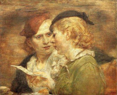 Isabel Bishop, Two Girls