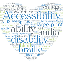 2016/04/Accessibility Education word cloud 700x613