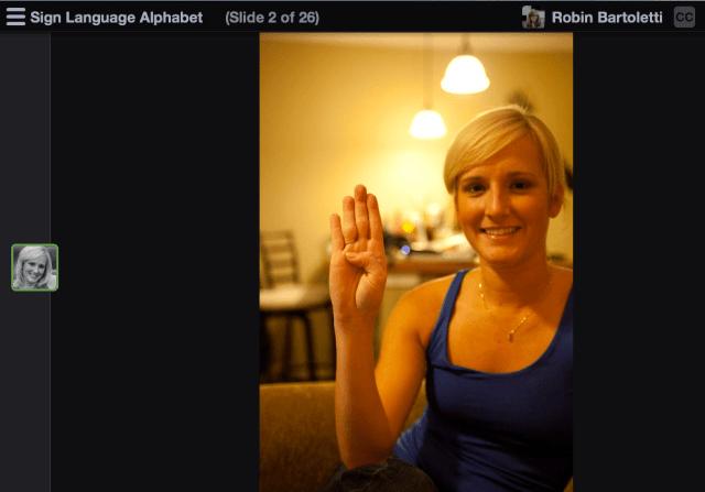 Sign Language Alphabet in VoiceThread