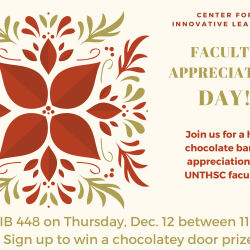 Faculty Appreciation day dec 12