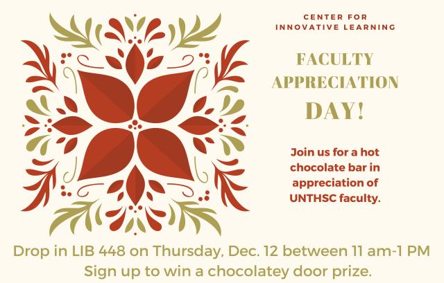 Faculty Appreciation day dec 12