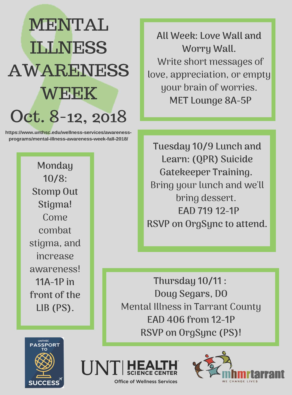 Mental Illness Awareness Week Fall