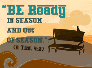 Be ready to share your faith