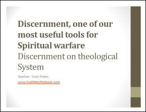 Discernment of a theological system notes