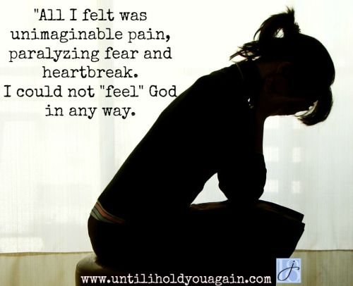 The pain of grief can be overwhelming. It is hard to feel God sometimes.