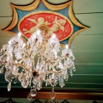 Chandelier at Sam's Castle, Pacifica.