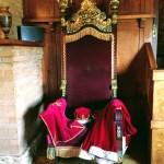 Sam Mazza's throne at Sam's Castle in Pacifica.