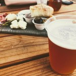 Beer with charcuterie board at the Alpine Inn, Portola Valley.