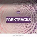 Screenshot of the parktracks website.