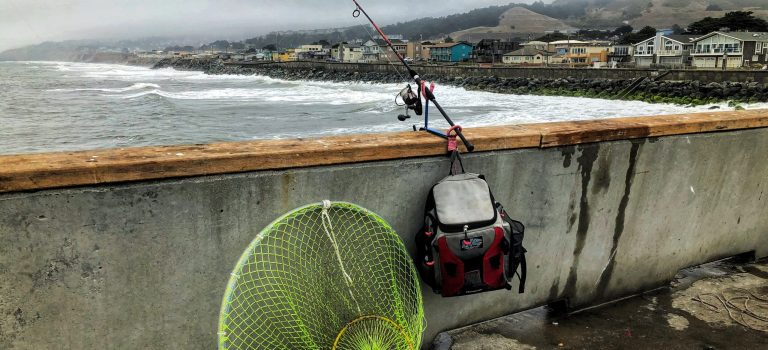 Fishing gear at the Pacifica pier