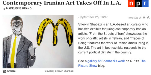 Contemporary Iranian Art Takes Off In L.A.