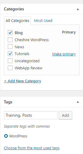 WordPress Tutorial: Categories