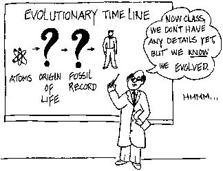 cartoon against evolution