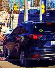 Road Raged Cyclist Smashes Driver's Mirror