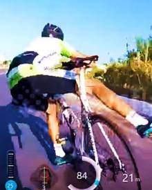 Road cycling crash – GoPro