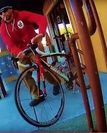 Bike Thief caught on Fly12 Camera