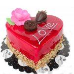 kalp pasta aşk pastası