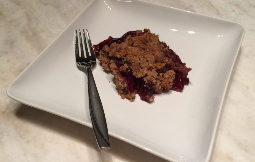 Cherry Crumble on a Hot Summer Night