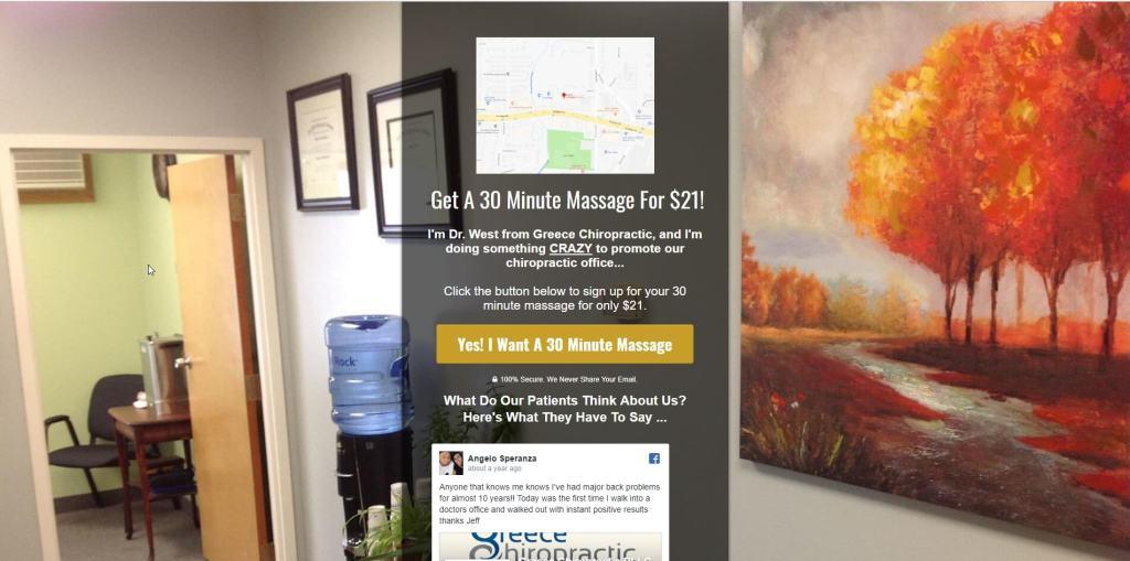 chiropractic marketing landing page