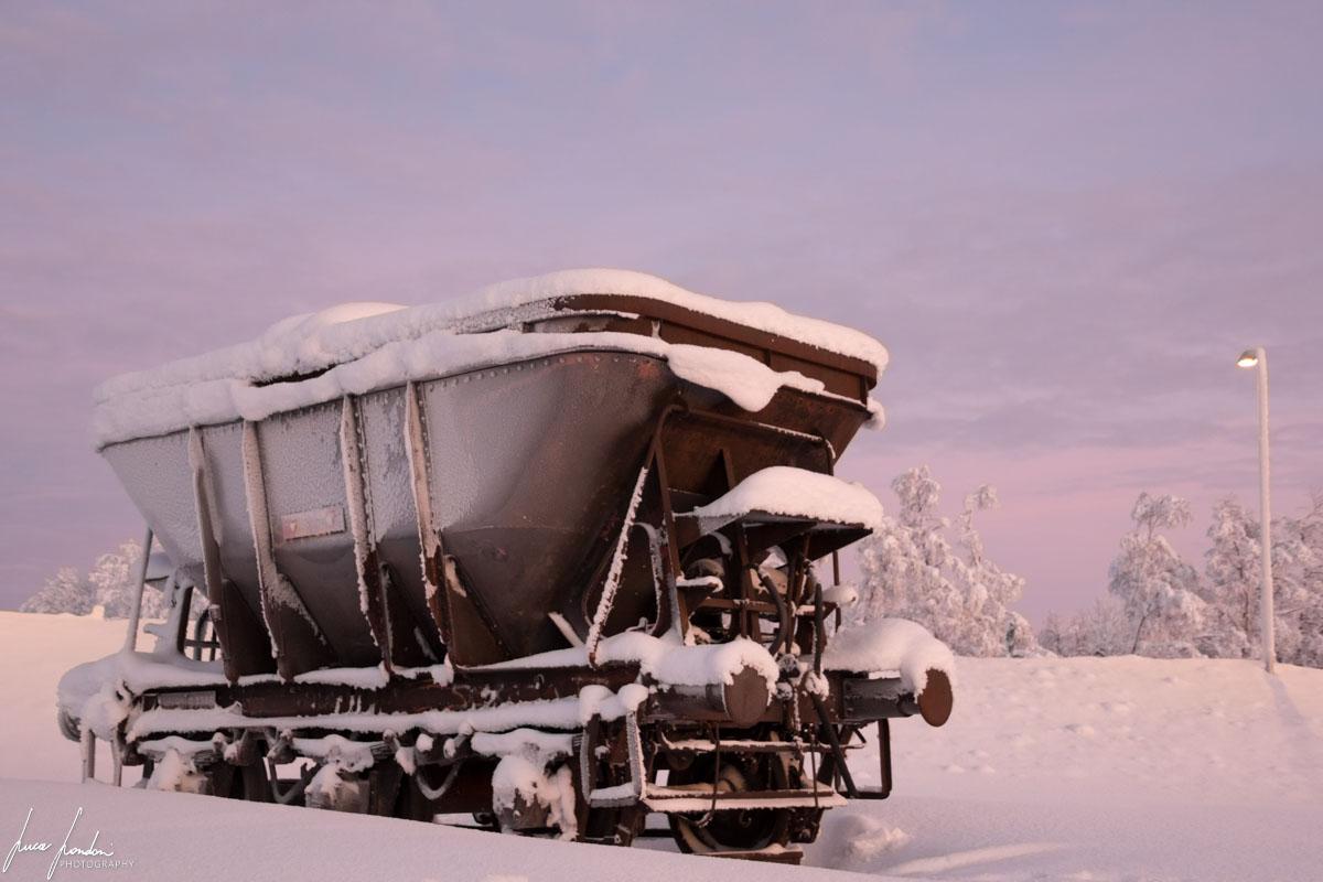 Vagone della miniera di Kiruna