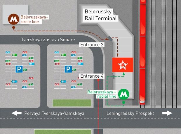 Dalla stazione Belorussky all'aeroporto Sheremetyevo