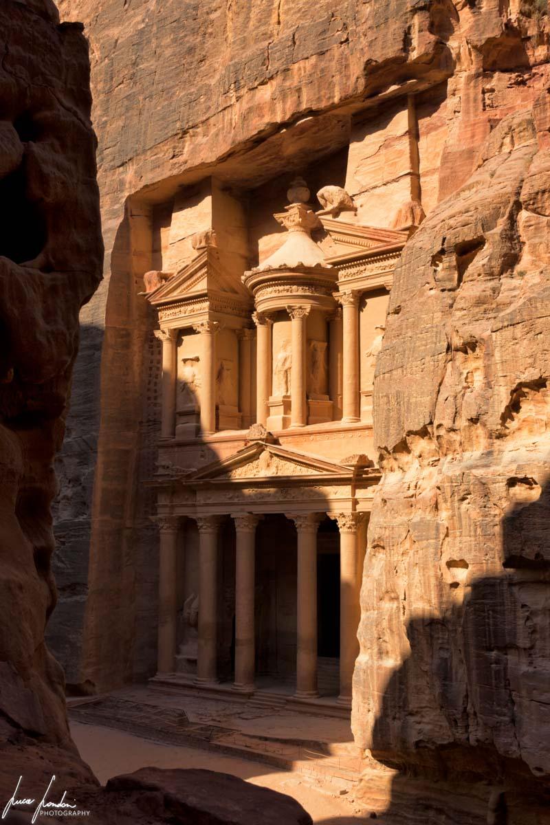 Il tesoro di Petra dall'alto