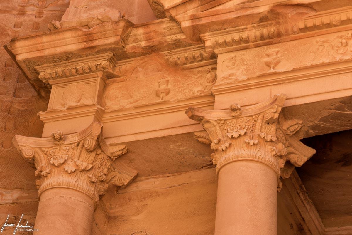 Dettagli del Tesoro di Petra