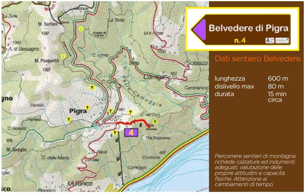 Pigra: mappa sentiero panoramico 4