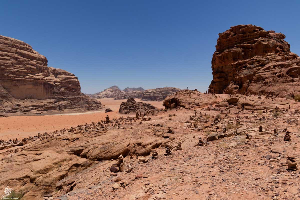 Wadi Rum: la vista dal sentiero dietro la Casa di Lawrence d'Arabia