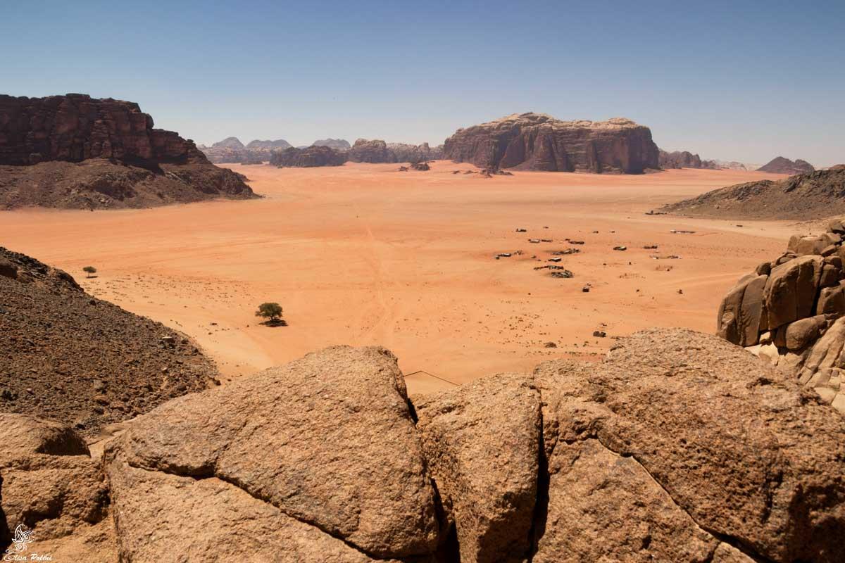 Panorama sul Wadi Rum
