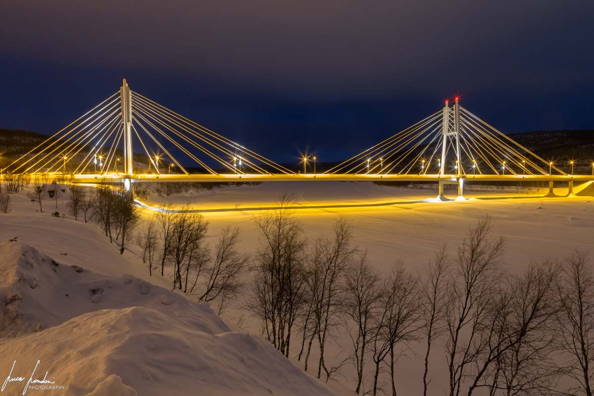 Villaggi Sami: Saamen silta, il Ponte Sami del villaggio di Utsjoki