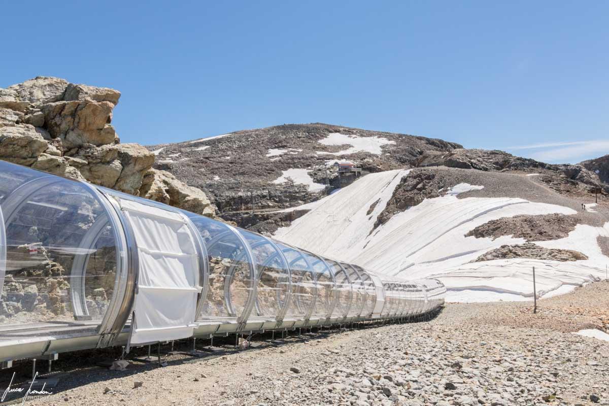 Diavolezza: i teloni geo-termici che ricoprono il ghiacciaio