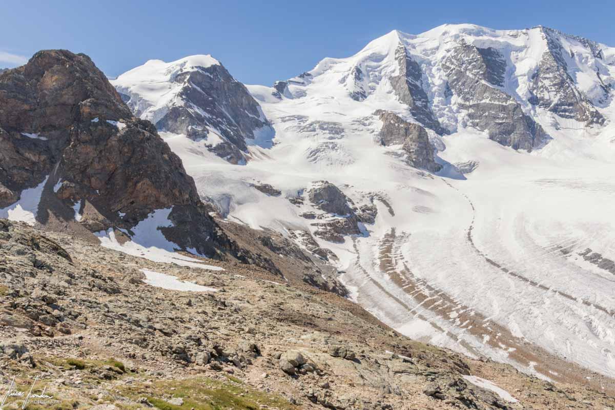 Diavolezza: vista panoramica sul Ghiacciaio del Pers