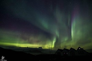 Northern Lights at Jokulsarlon