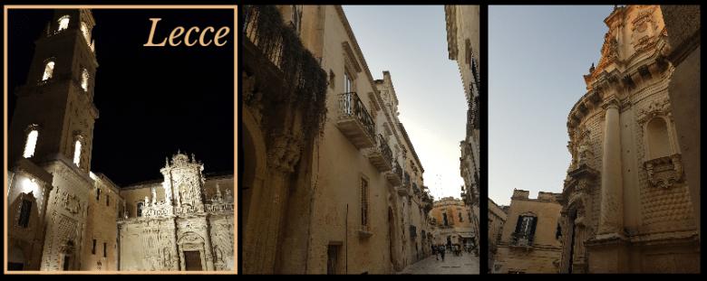 Salento cosa vedere - Lecce centro storico, 3 scorci della città barocca