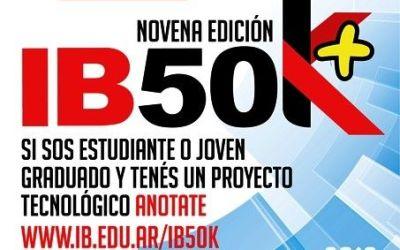 Se lanzó el Concurso IB50 K para jóvenes emprendedores
