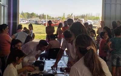 Estudiantes de Enfermería realizaron actividades en el Hospital Eva Perón