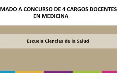 LLAMADO A CONCURSO DE CUATRO (4) CARGOS DOCENTES EN MEDICINA