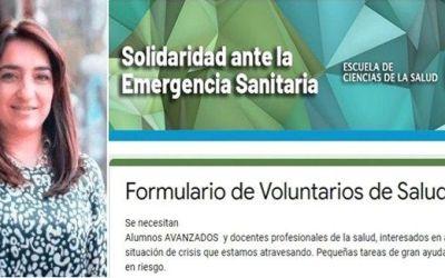 Lanzan inscripción a Voluntariado dispuesto a colaborar ante la emergencia sanitaria