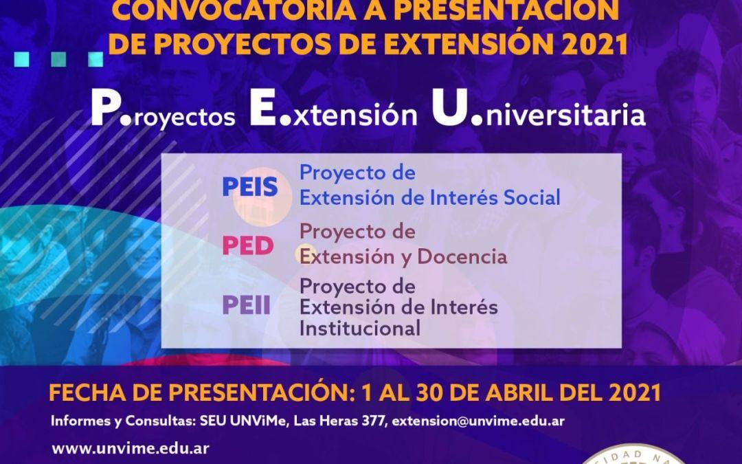 Lanzan Convocatoria a presentación de proyectos de Extensión