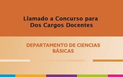 Convocatoria para Dos (2) cargos de Auxiliar Docente para la Carrera del Profesorado en Educación Primaria.