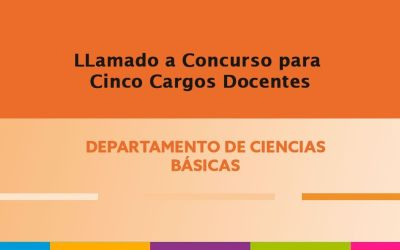 Tres (3) cargos de Jefe de Trabajos Prácticos y dos (2) cargos de Ayudante de Primera para los Profesorados en Educación Primaria e Inicial.