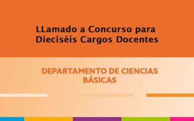 Convocatoria para Siete (7) cargos Jefe de Trabajos Prácticos y Nueve (9) cargos de Ayudante de Primera.
