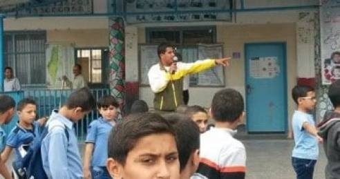 UNRWA teacher abu mike