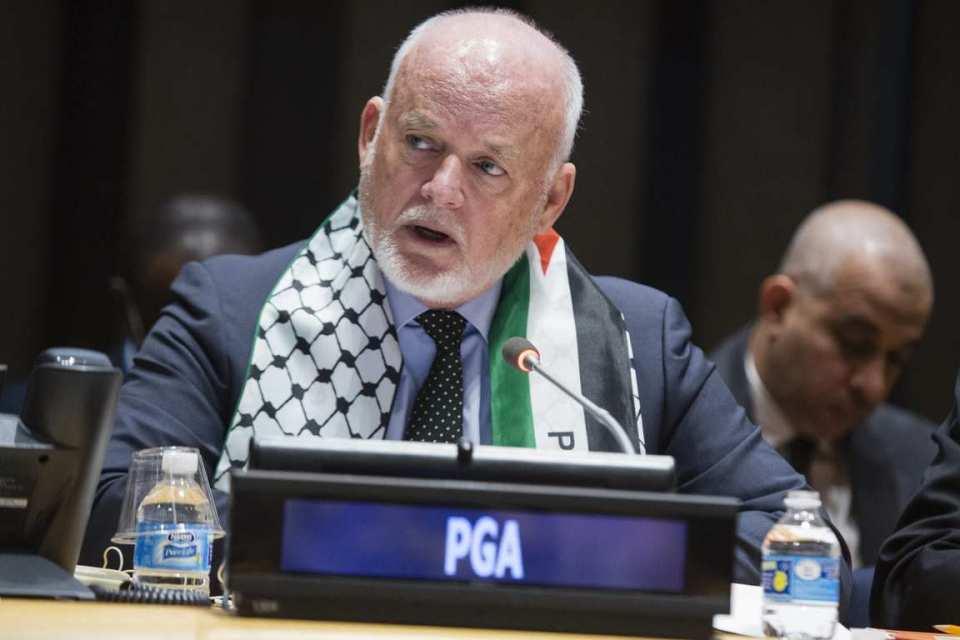 ER. Herr Peter Thomson - Präsident des Generalversammlungsausschusses für die Ausübung der unveräußerlichen Rechte des palästinensischen Volkes, Sondertagung zur Einhaltung des Internationalen Solidaritätstags mit dem palästinensischen Volk gemäß der Resolution 32/40 B der Generalversammlung vom 2. Dezember 1977