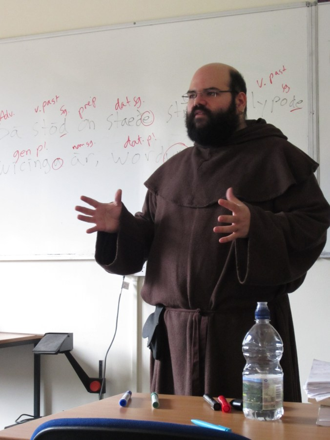 Dr. Vidal dressed as Friar Tuck. Photo used with permission, please do not repost.